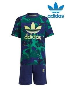 adidas Originals Little Kids All Over Print Shorts and T-Shirt Set