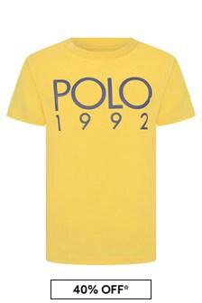 Ralph Lauren Kids Boys Yellow Cotton Jersey Polo T-Shirt