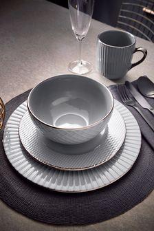 16 Piece Tower Grey Dinnerware Set