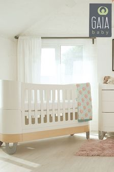 Gaia Set Complete Sleep And Dresser Set White/ Natural
