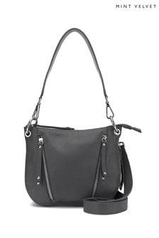 Mint Velvet Claire Leather Multi Zip Cross Body Bag