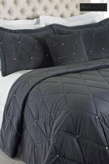 Diamanté Bedspread and Pillowsham Set by Riva Home