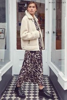 Mint Velvet Josie Leopard Print Zip Dress