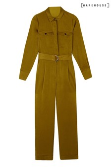 Warehouse Yellow Satin Utility Boilersuit