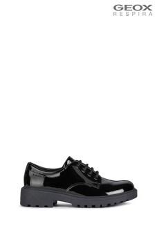 Geox Junior Girls Casey Black Shoes