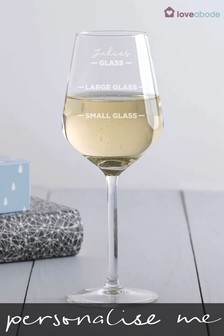 Personalised Wine Glasses by Loveabode