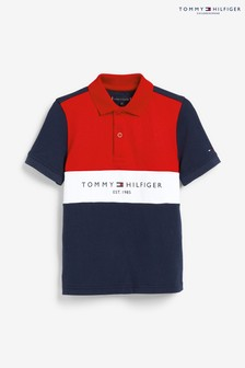 Tommy Hilfiger Blue Colourblock Polo Shirt