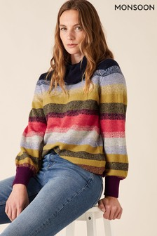 Monsoon Brushed Stripe Jumper