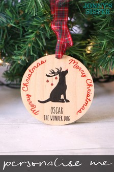 Personalised Dog Bauble by Jonnys Sister