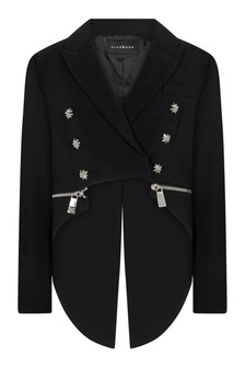 Girls Black Detachable Tail Jacket
