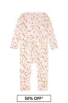 Molo Baby Girls Cream Cotton Babygrow
