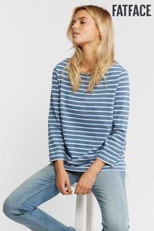 FatFace Blue Organic Cotton Blend Fleur Breton T-Shirt