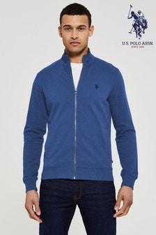 U.S. Polo Assn. Bluefull Zip Funnel Neck Sweat Top
