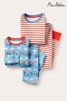 Boden Blue Twin Pack Long John Pyjamas