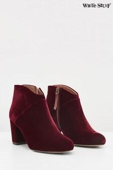 White Stuff Claret Lottie Velvet Shoe Boots