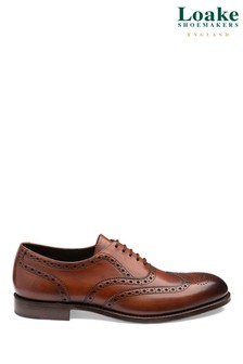 Loake Chesnut Hepworth Hand Painted Brogues