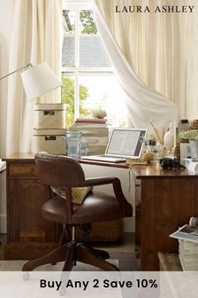 Franklin Dark Chestnut Office Swivel Chair by Laura Ashley