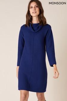 Monsoon Cali Cowl Neck Knitted Dress