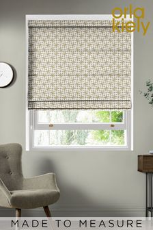 Woven Acorn Cup Moss Green Made To Measure Roman Blind by Orla Kiely