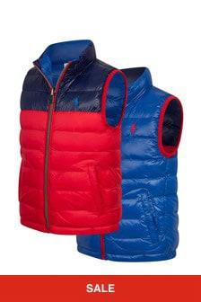 Ralph Lauren Kids Boys Red Reversible Vest