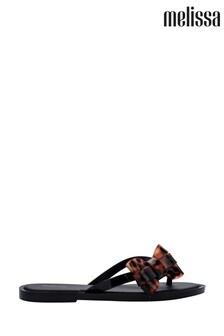 Melissa Black Tortoiseshell Effect Sandals