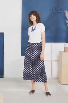 Seasalt Blue Visual Art Culottes