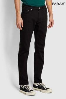 Farah Black Elm Black Stretch Denim Jeans