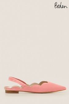 Boden Pink Lilian Slingback Shoes