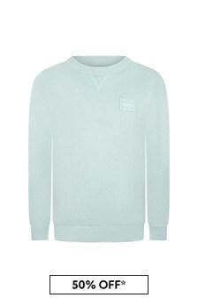 Dolce & Gabbana Boys Green Cotton Sweater