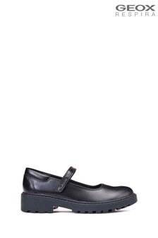 Geox Girls' Casey Black Shoe
