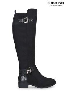 Miss KG By Kurt Geiger Black Heston Boots