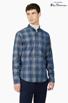 Ben Sherman Ink Printed Corduroy Check Shirt