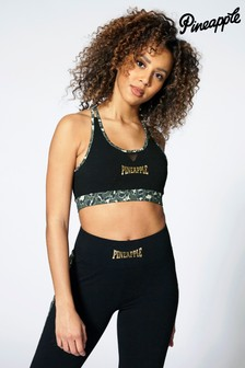 Pineapple Leopard Band Mesh Bra Top