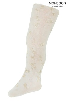 Monsoon Baby Butterfly Flower Perlato Print Tights