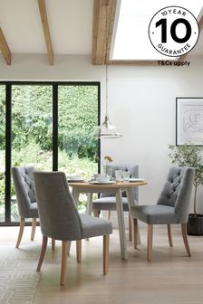 Malvern Dove Grey 4 Seater Round Dining Table