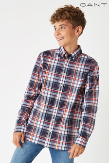 GANT Boys' Madras B.D Shirt