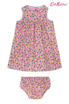 Cath Kidston Baby Pink Petal Flowers Ditsy Eleanor Dress