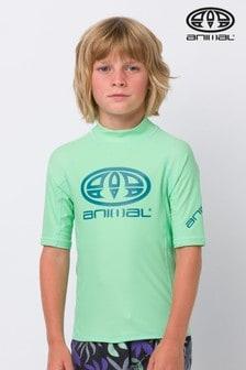 Animal Green Hiltern Short Sleeve Rash Vest
