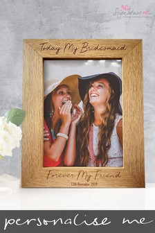 Personalised Bridesmaid Photo Frame by Signature PG