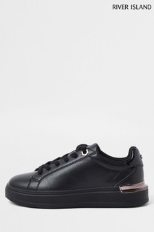 River Island Black Chunky Drench Lace-Up Shoes