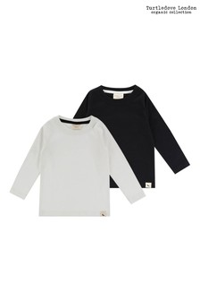 Turtledove London Layering Ecru/Black Mono Tops Two Pack