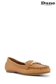 Dune London Brown WF Georgas Snaffle Trim Comfort Loafers