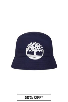 Timberland Baby Navy Cotton Hat