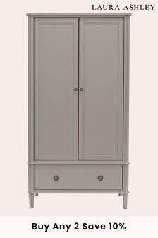 Henshaw Pale Charcoal 2 Door 1 Drawer Wardrobe by Laura Ashley