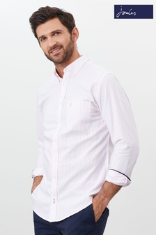 Joules Pink The Classic Laundered Oxford Shirt