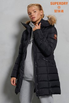 Superdry Premium Down Luxe Longline Coat