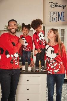 Otroška božična majica z dolgimi rokavi Matching Family Minnie Mouse™ (3 mesecev–16 let)