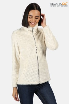Regatta Cream Hermilla Velour Full Zip Fleece Sweater