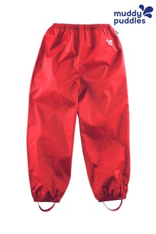 Muddy Puddles Red Originals Waterproof Over Trousers