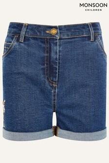 Monsoon Blue Unicorn Denim Shorts